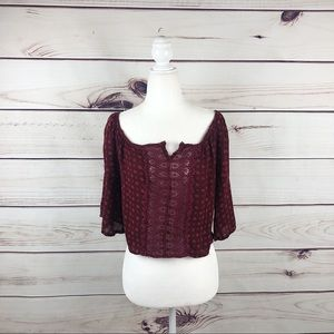HOLLISTER Crochet crop women's size XS